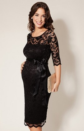 bb1099101f24 Amelie čipkované tehotenské šaty na príležitosť čierne