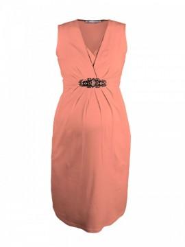 4fd3a9d0abbe Peach slávnostné šaty na dojčenie Queen Mum - Peach slávnostné šaty na  dojčenie ...