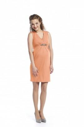 36240a3e9540 ... Queen Mum - Peach slávnostné šaty na dojčenie ...
