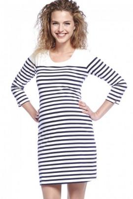 538888598308 Breton šaty pre tehotné modro-biele