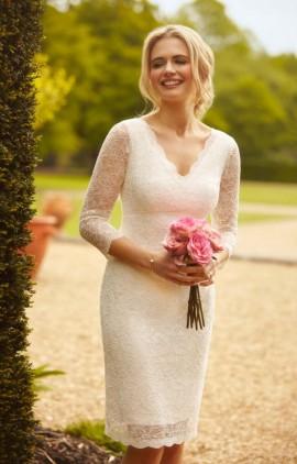 Anya krátke svadobné čipkované šaty f778469b30c