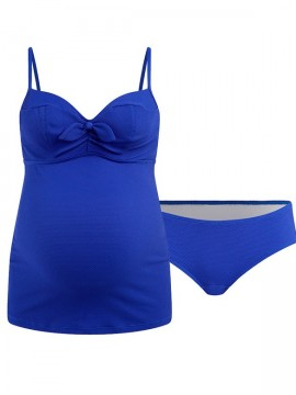 d7142e420f3 ... Cache Coeur - Sixties tehotenské plavky tankini modré ...