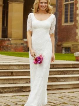 Claudia svadobné šaty jednoduché dlhé fcd59ffaa40