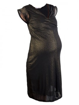 Queen Mum - Sparkling mesh dress gold