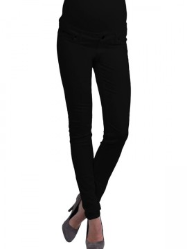 6b3218a943 Tehotenské nohavice čierne slimfit Queen Mum - Tehotenské nohavice čierne  slimfit ...