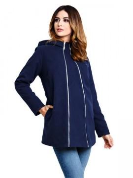 Kabát na zimu pre tehotné Casmiro Navy a50c13440ac