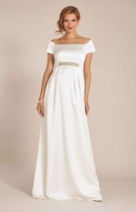 Aria luxusné svadobné šaty pre tehotné pôvabné dlhé šaty s krátkym rukávom  - Aria luxusné svadobné šaty pre tehotné ... b320f0e708f