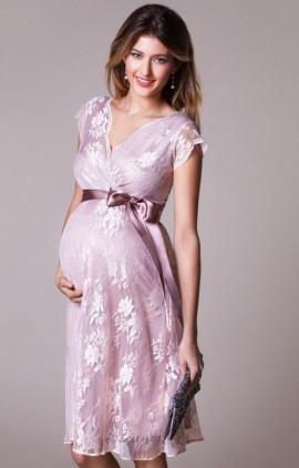 2fff22dc10b5 ... farba jemná ružová - Eden spoločenské šaty pre tehotné krátke ...