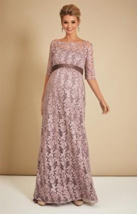 7032f530d52d Tehotenské večerné šaty dlhé Asha lilac