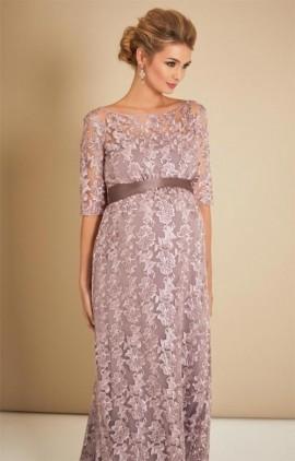 ... čipkované šaty na ples - Tehotenské večerné šaty dlhé Asha lilac 66670294828