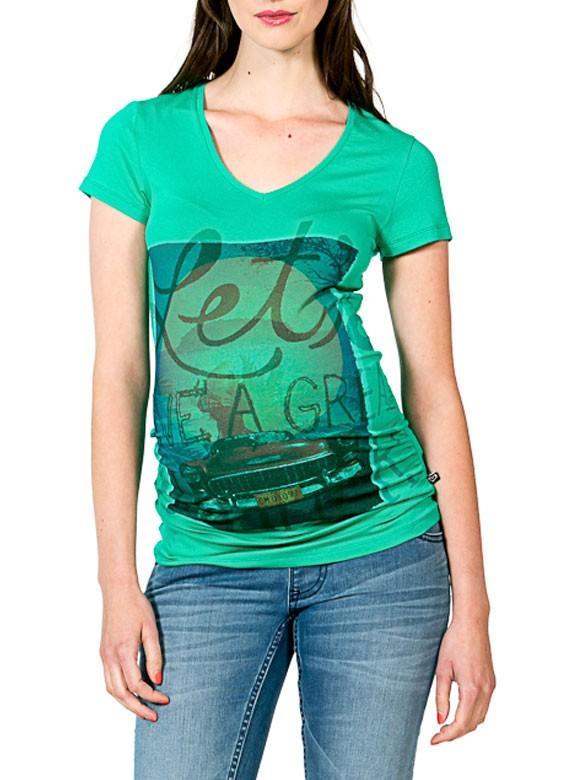 Love2wait Tehotenské tričko Cubacar mint, veľkosť S/36