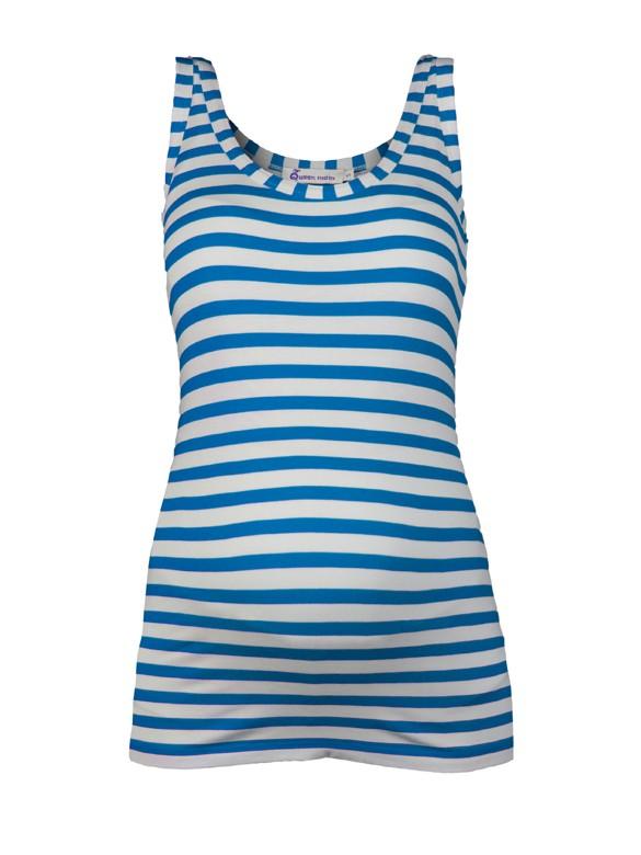 Queen Mum Summer stripe tielko modro biele, veľkosť XL/42