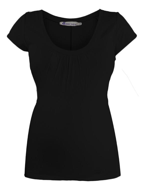 Queen Mum Claudia čierne tehotenské tričko, veľkosť L/40