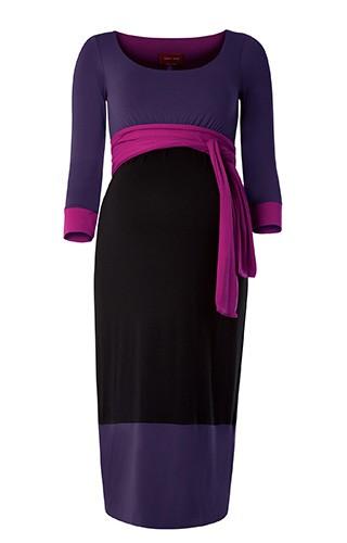 Tiffany Rose Color block elegantné tehotenské šaty, veľkosť XXL/XXXL