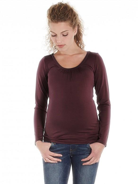 Queen Mum Basic tehotenské tričko fialové, veľkosť M/38