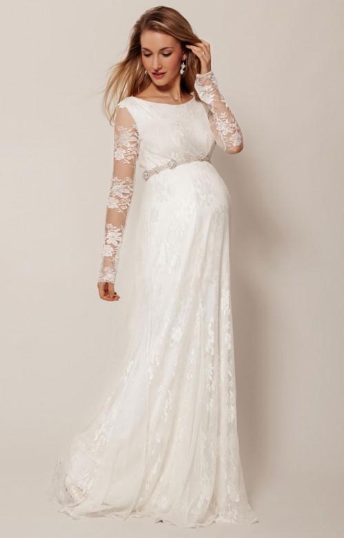 Tiffany Rose Helena svadobné šaty pre tehotné dlhé, veľkosť L/XL