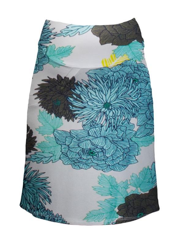 Queen Mum Big flower print sukňa pre tehotné, veľkosť S/36
