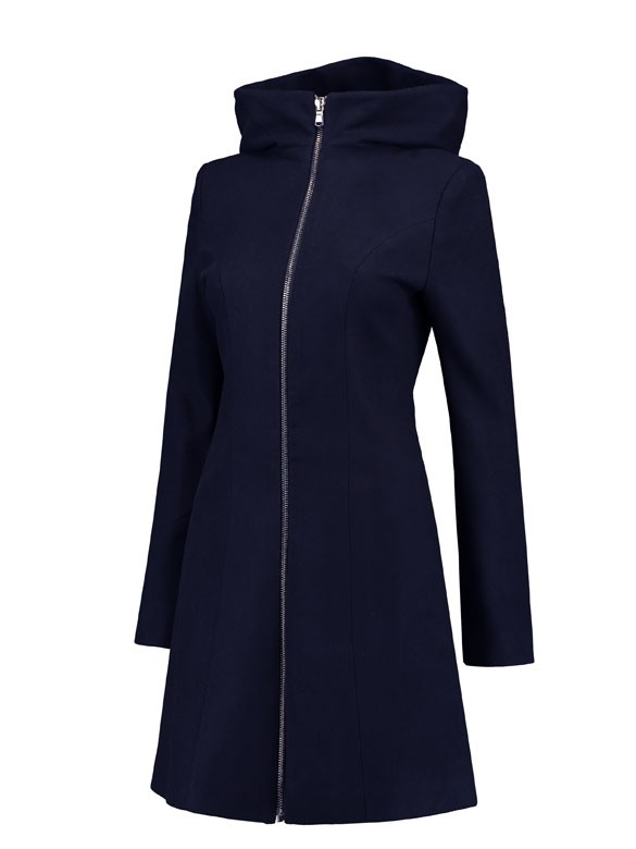 Love2wait Tehotenský kabát Double zipper navy, veľkosť M/38
