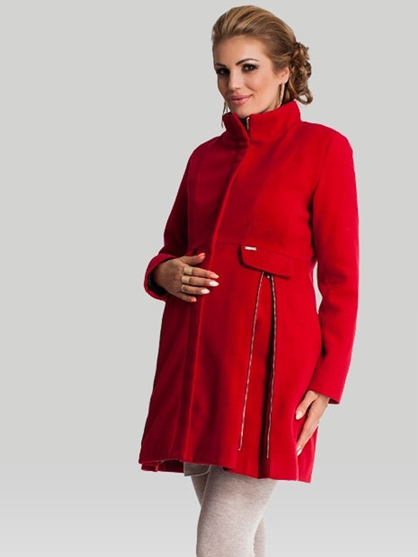 Happy Mum Kabát pre tehotné Royal Ruby, veľkosť S/36