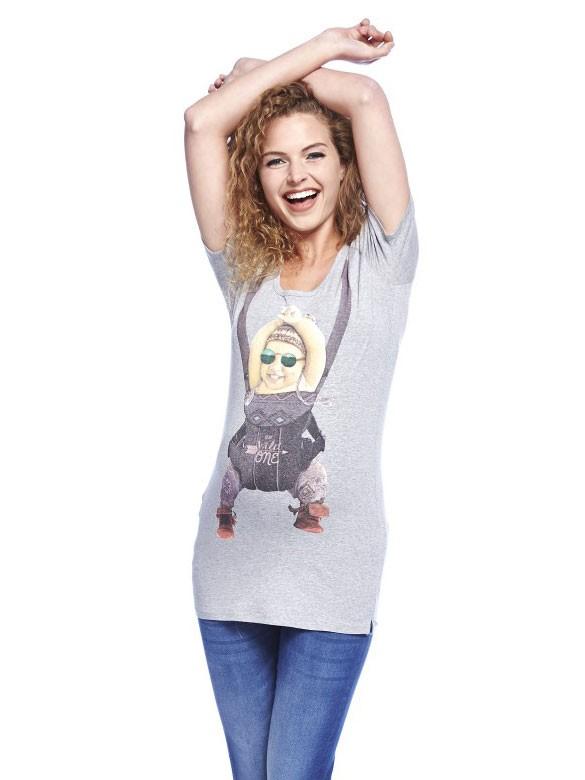 Queen Mum Tričko pre tehotné s potlačou dievčatko, veľkosť M/38