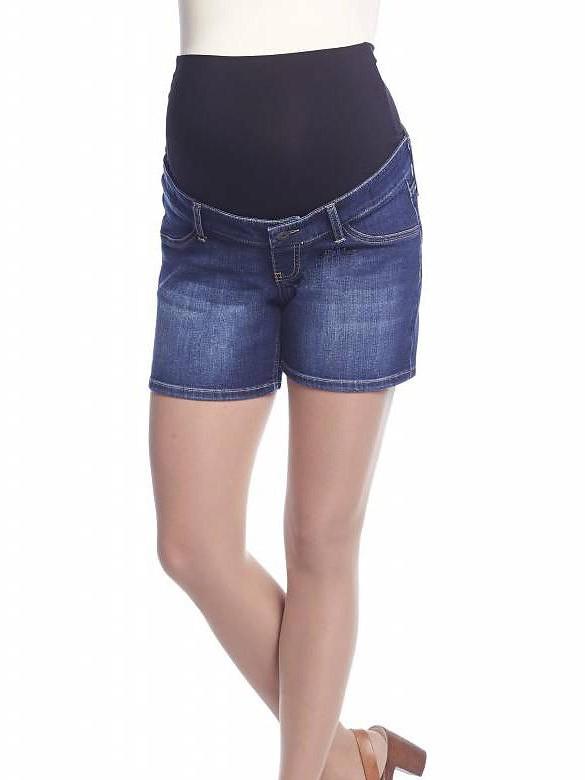 Queen Mum Riflové šortky pre tehotné, veľkosť 28/S