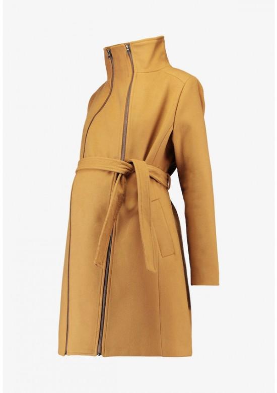 Love2wait Camel tehotenský kabát double zipper 2v1, veľkosť XL/42