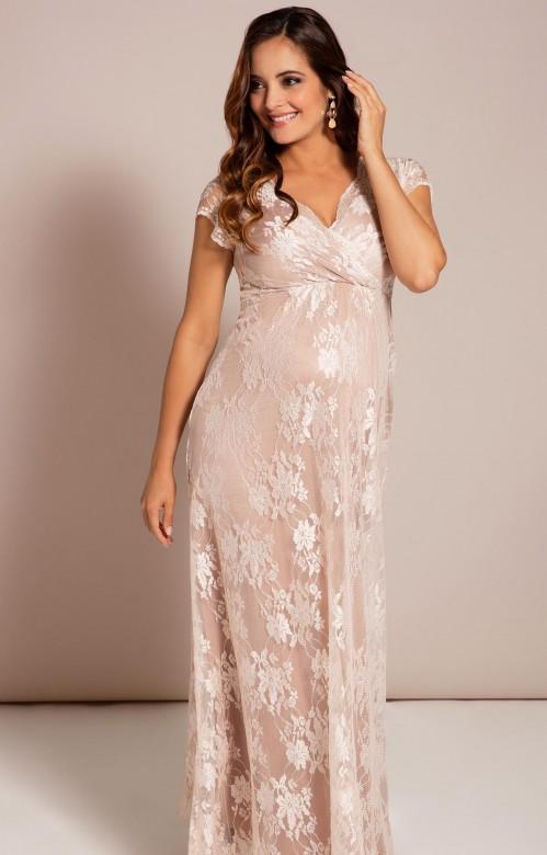 Tiffany Rose Eden blush spoločenské dlhé šaty pre tehotné, veľkosť S/M