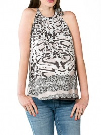 Top Halter printed Dessin