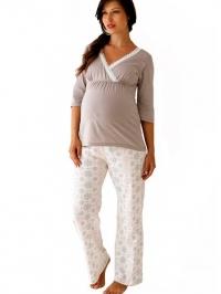 3ae3e045f8f3 Starlit tehotenské pyžamo 3 4 rukáv