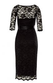 c7916059b5d3 ... Amelie čipkované tehotenské šaty na príležitosť čierne