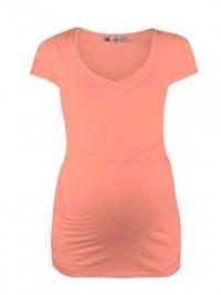 9a948d5b37b4 ... Basic tehotenské tričko na kojenie broskyňová Queen Mum - Basic  tehotenské tričko na kojenie broskyňová