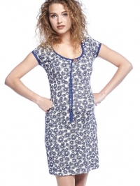 0ac467be53f4 Poppy blue tehotenské šaty na leto
