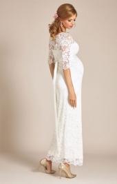 b011844e4663 ... Amelie svadobné šaty pre tehotné dlhé smotanové ...