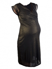 Sparkling mesh dress gold