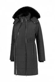 4a824c714a23 Teplá tehotenská zimná bunda čierna