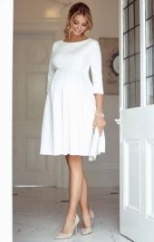 301c53c344 Sienna tehotenské svadobné šaty krémove