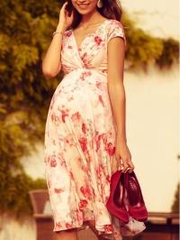 a9b02170e9b9 Tehotenské kvetinové šaty slávnostné